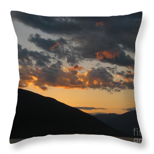 Sunset Throw Pillow featuring the photograph Sunset by Leone Lund