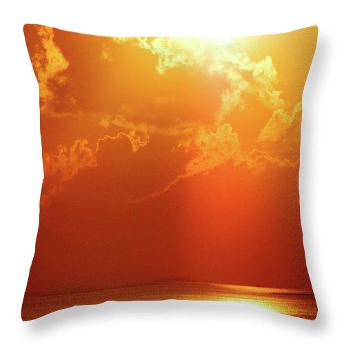 Sunset Throw Pillow featuring the digital art Sunset Near Venice La by Lizi Beard-Ward