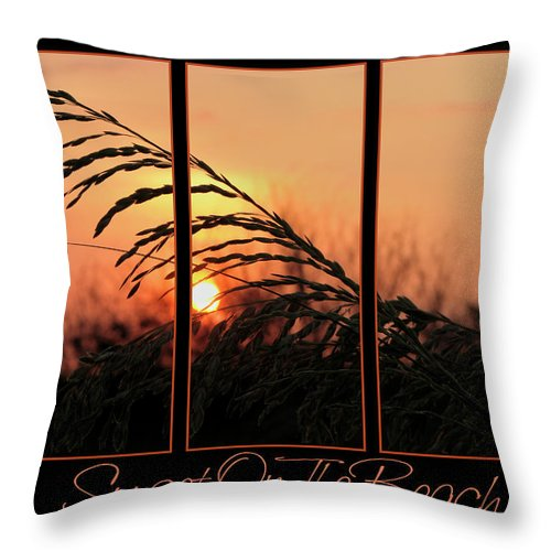 Sunset On Beach Throw Pillow featuring the photograph Sunset On The Beach by Carolyn Marshall