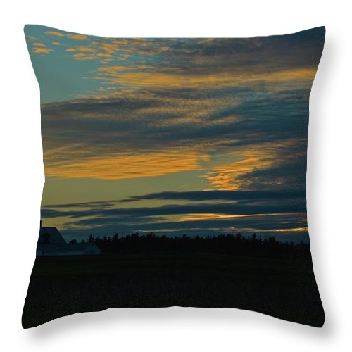 sunset On The Old Canadian Highway Throw Pillow featuring the photograph Sunset On The Old Canadian Highway by Paul Mangold