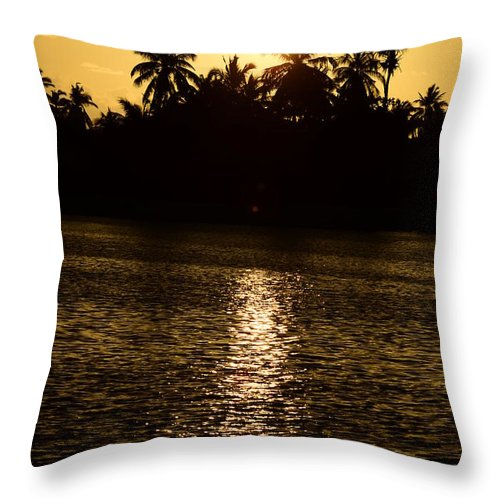 Sunset Throw Pillow featuring the photograph Sunset One by Alfie Borg