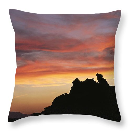 North America Throw Pillow featuring the photograph Sunset Over Painted Desert, Arizona by David Edwards