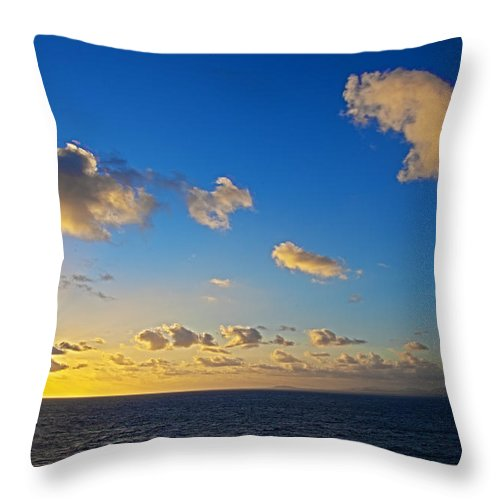 Sunset Throw Pillow featuring the photograph Sunset Over The Caribbean Sea by Keith Allen