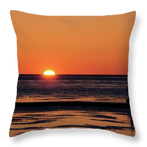 Sunset Throw Pillow featuring the photograph Sunset Park Petoskey Mi by Ronald Grogan