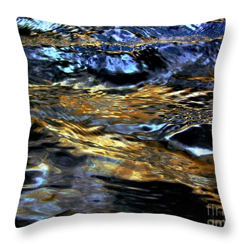 Water Throw Pillow featuring the digital art Sunset Reflected On Wave by Dale  Ford