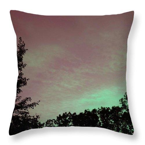 Sunset Throw Pillow featuring the photograph Sunset by Robert Gross