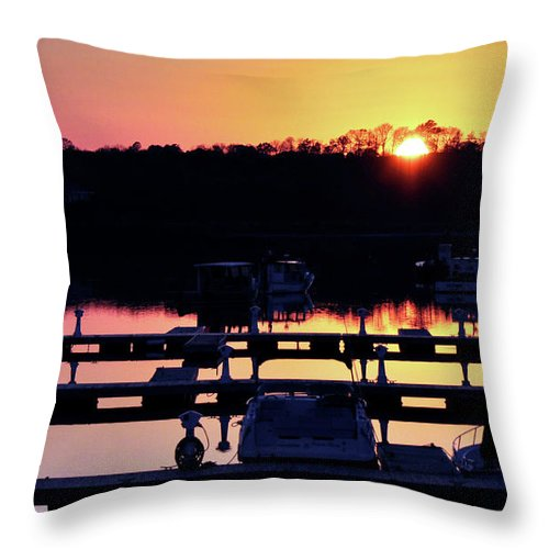 Sunset Throw Pillow featuring the photograph Sunset Sky by Joanne Brown