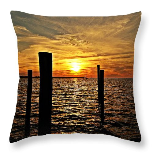 Sunset Throw Pillow featuring the photograph Sunset Xxviii by Joe Faherty