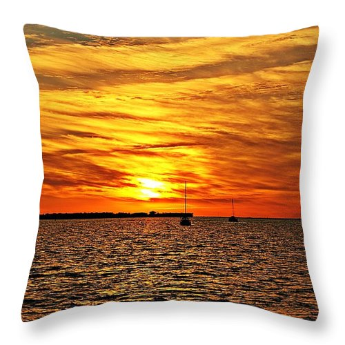 Sunset Throw Pillow featuring the photograph Sunset Xxxi by Joe Faherty