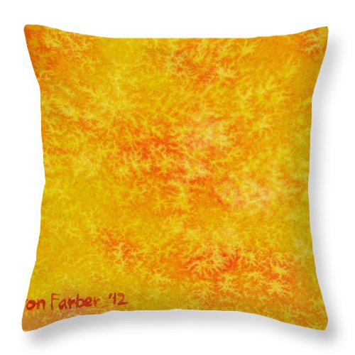 Sun Throw Pillow featuring the painting Sunshine by Sharon Farber