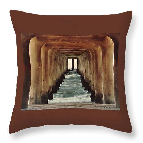 2d Throw Pillow featuring the photograph Surfer's Labyrinth by Brian Wallace