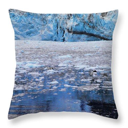 Alaska Throw Pillow featuring the photograph Surprise Glacier by Rick Berk