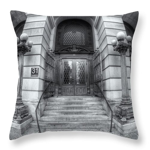 Clarence Holmes Throw Pillow featuring the photograph Surrogate's Courthouse II by Clarence Holmes