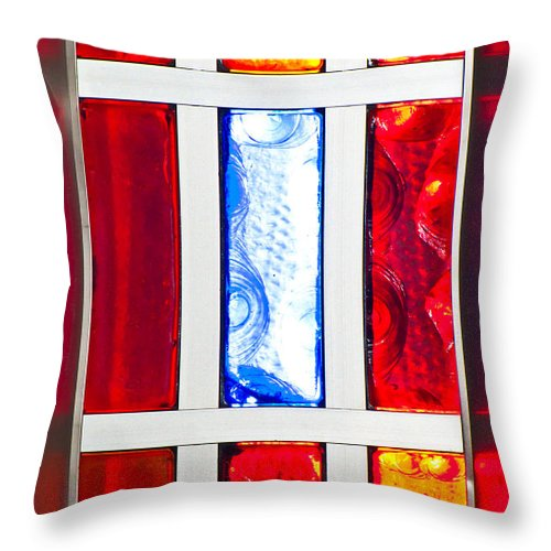 Glass Throw Pillow featuring the photograph Surrounded By Color by Colleen Coccia