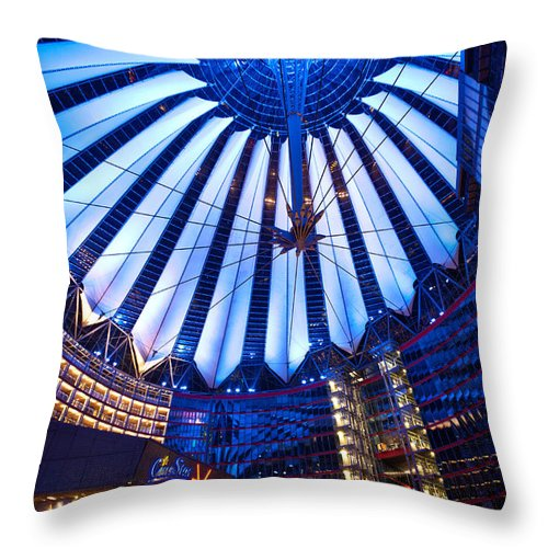 Sony Center Throw Pillow featuring the photograph Sweeping Blades by Mike Reid