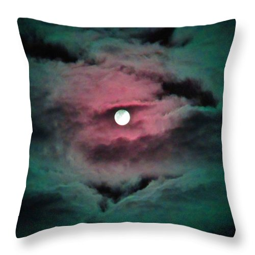 Moon Throw Pillow featuring the photograph Swim To The Moon by Susan Carella
