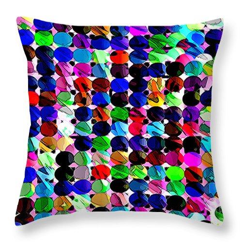 Ebsq Throw Pillow featuring the digital art Swimming Upstream by Dee Flouton