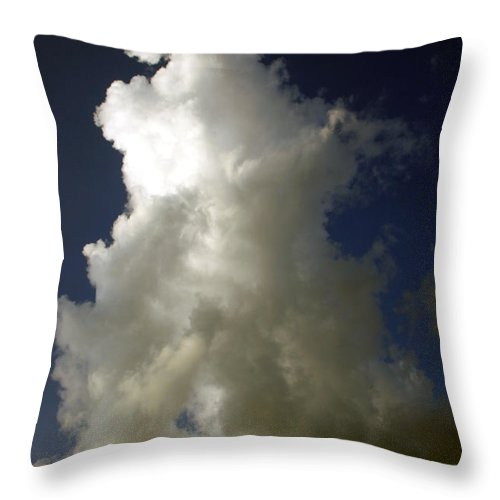 Swirling Throw Pillow featuring the photograph Swirling Upward by Nina Fosdick