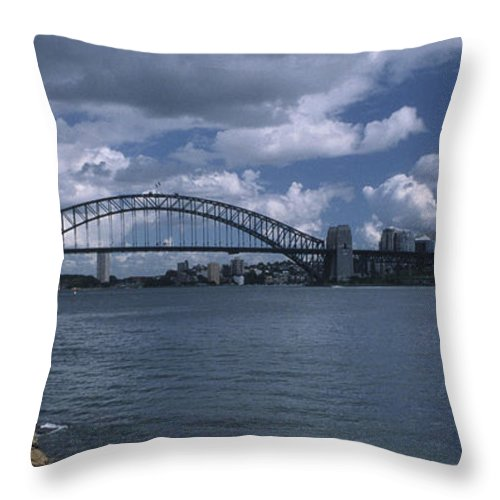 Sandra Bronstein Throw Pillow featuring the photograph Sydney Harbor Australia by Sandra Bronstein