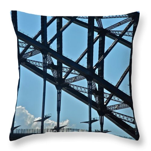 Sydney Throw Pillow featuring the photograph Sydney Harbor Bridge Detail by Kirsten Giving