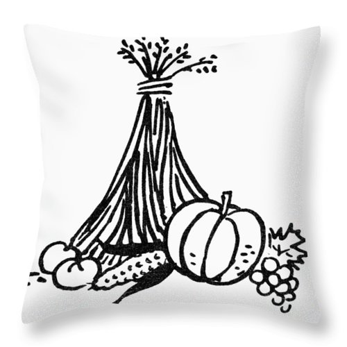 Abundance Throw Pillow featuring the photograph Symbol: Thanksgiving by Granger