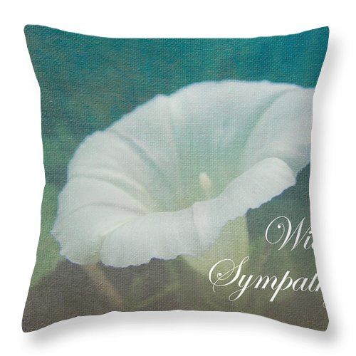 Sympathy Throw Pillow featuring the photograph Sympathy Greeting Card - Wild Morning Glory - Bindweed by Mother Nature