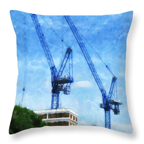 Blue Throw Pillow featuring the photograph Synchronicity by Steve Taylor
