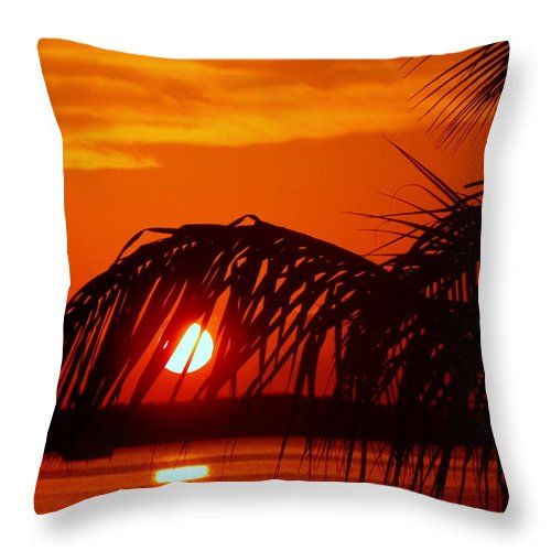 Sunsets Throw Pillow featuring the photograph Take Me Away by Karen Wiles