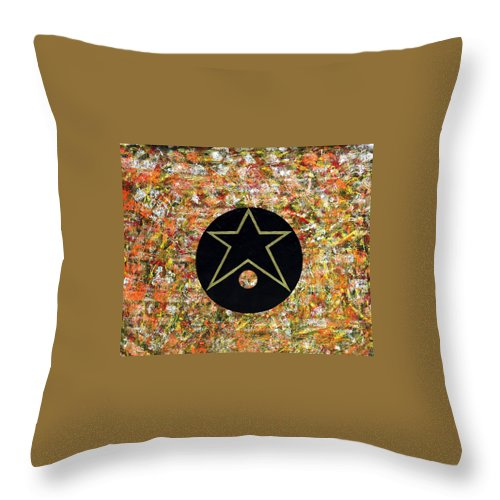 Throw Pillow featuring the painting Talisman by Sumit Mehndiratta