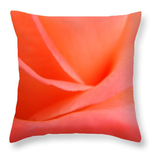 Rose Throw Pillow featuring the photograph Tangerine Dream by Donna Blackhall