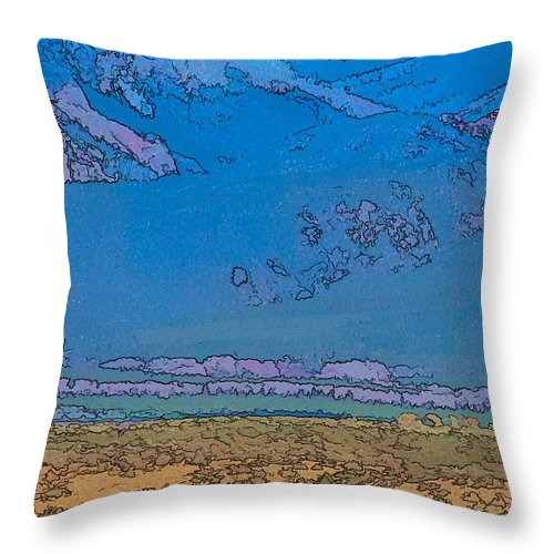 Santa Throw Pillow featuring the digital art Taos Abstract by Charles Muhle