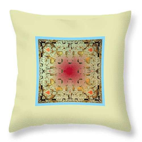 Fractal Throw Pillow featuring the digital art Tapestry Mandelbrot by Richard Ortolano