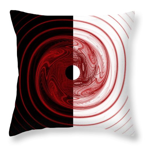 Fractal Throw Pillow featuring the digital art Target by Betsy Knapp