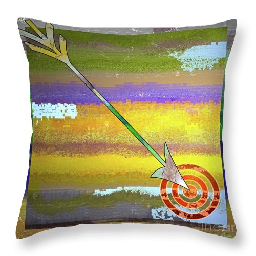 Target Throw Pillow featuring the digital art Target by Gwyn Newcombe