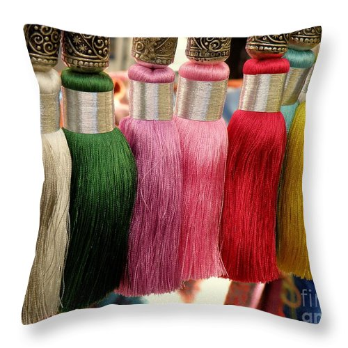 Tassels Throw Pillow featuring the photograph Tassels by Lainie Wrightson