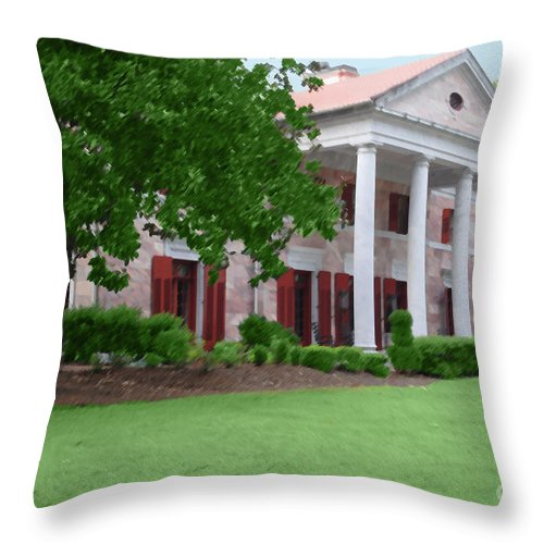 Tate Throw Pillow featuring the photograph Tate Mansion As Art by Jost Houk
