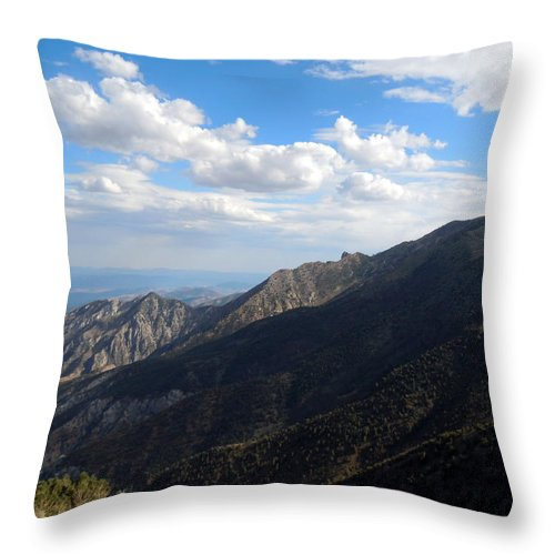 Telescope Peak Throw Pillow featuring the photograph Telescope Peak And The Valley by Catherine Lau