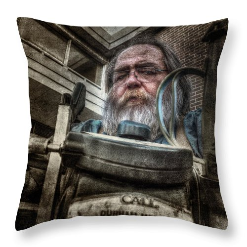 Acrylic Prints Throw Pillow featuring the photograph Telescope Salesman - Failed by John Herzog