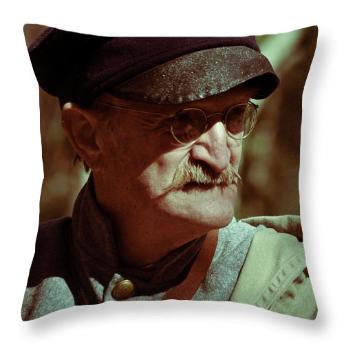 Texas; Soldier; People Throw Pillow featuring the photograph Texas Army Soldier by Diego Re