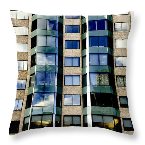 Art Throw Pillow featuring the photograph Textures Of The City by Greg Fortier