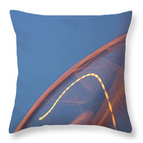 Travel Throw Pillow featuring the photograph Thai Bridge Abstract by Lyle Barker