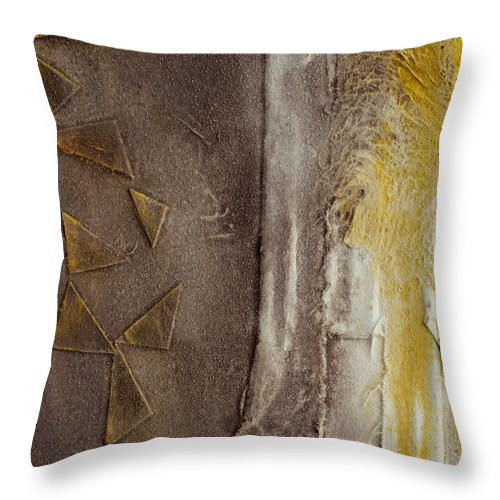 Thaw Throw Pillow featuring the painting Thaw 42 by Jorge Berlato
