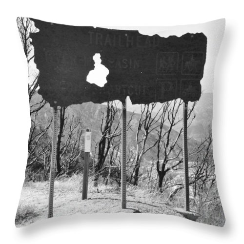 Wildfire Throw Pillow featuring the photograph The Aftermath by Caroline Lomeli