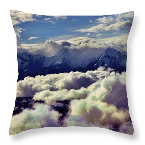 Denali National Park Throw Pillow featuring the photograph The Alaska Range by Rick Berk
