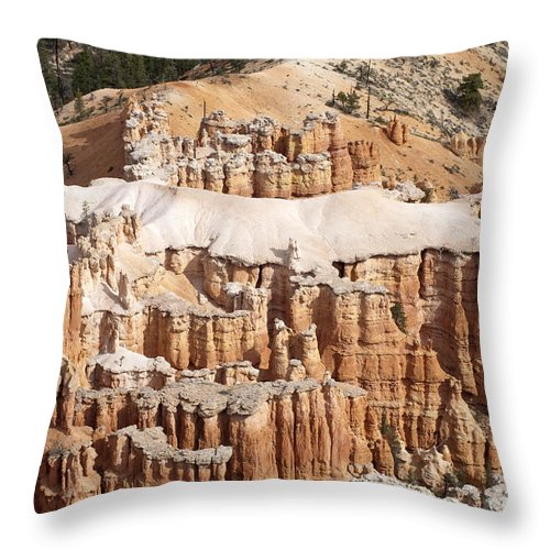 Bryce Canyon Throw Pillow featuring the photograph The Allligator by Sandra Bronstein