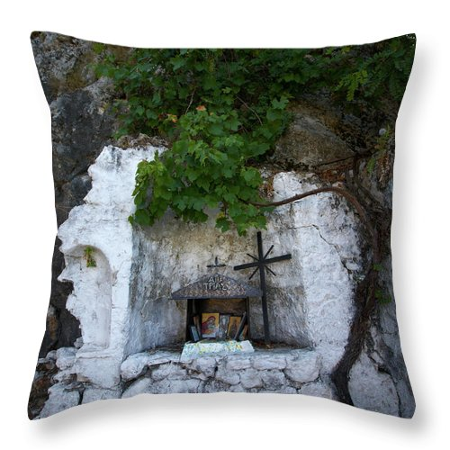 Jouko Lehto Throw Pillow featuring the photograph The Altar 2 by Jouko Lehto