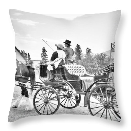 Street Photography Photographs Framed Prints Photographs Framed Prints Throw Pillow featuring the photograph The Ave by The Artist Project