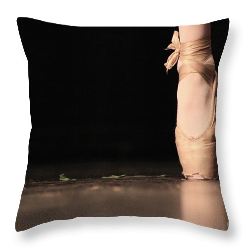 Slipper Throw Pillow featuring the photograph The Ballet by Ken Marsh