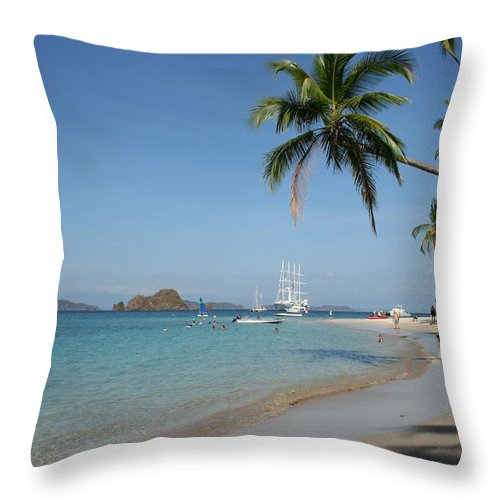 Beach Throw Pillow featuring the photograph The Beach by Jane Coenen