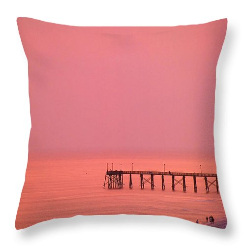 Beach Throw Pillow featuring the photograph The Beach by Ronnie Glover